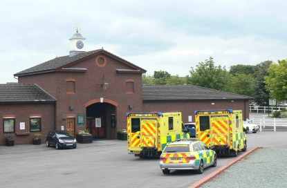 Emergency vehicle Waiting Station at racecourse